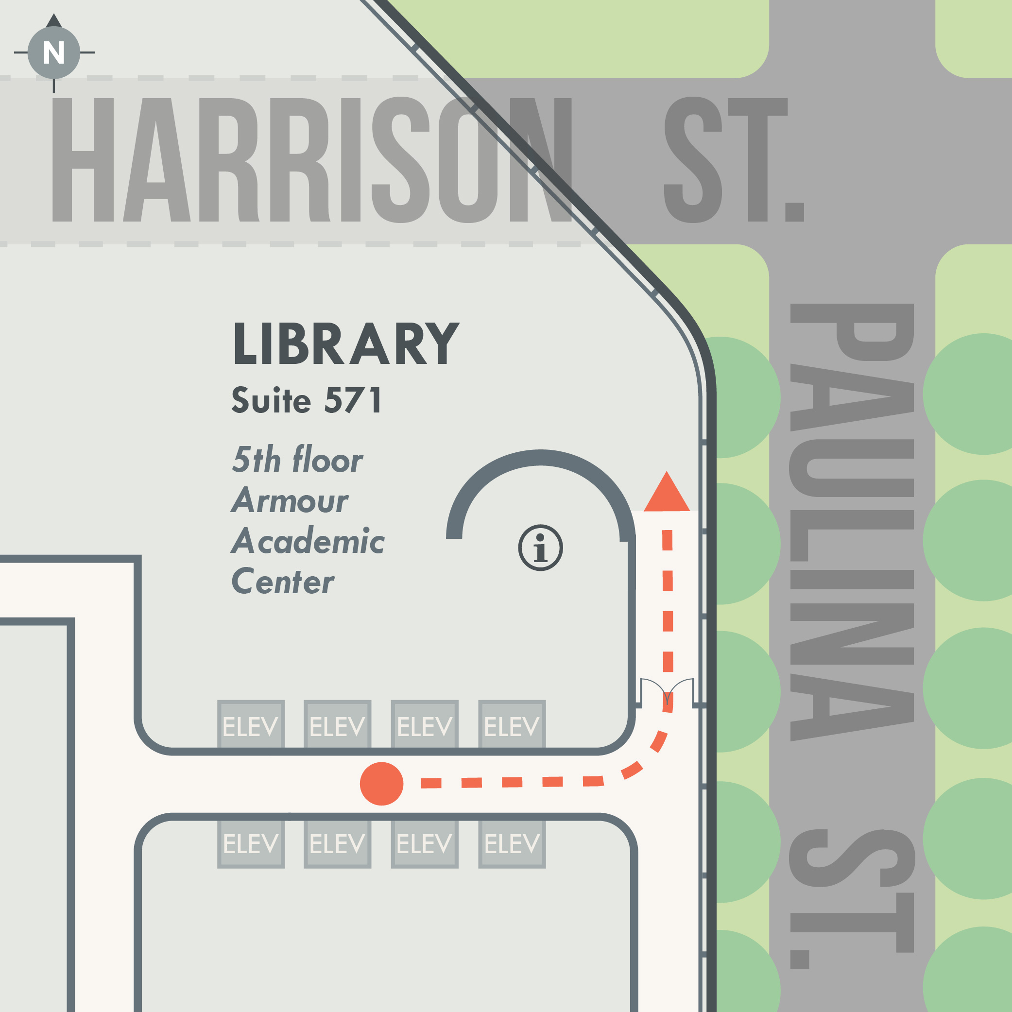 Map of the library's location