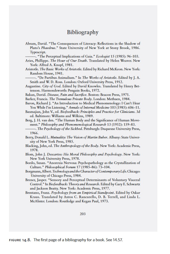 sample bibliography page chicago style