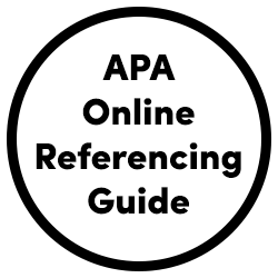 APA online referencing guide icon