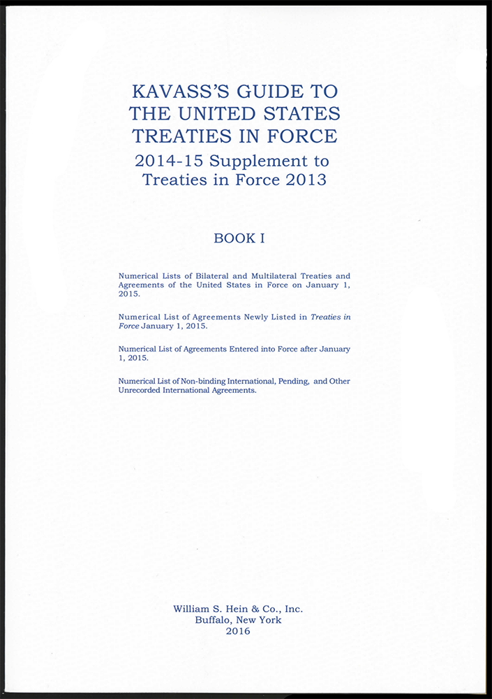 Treaties Conventions United States Public International Law