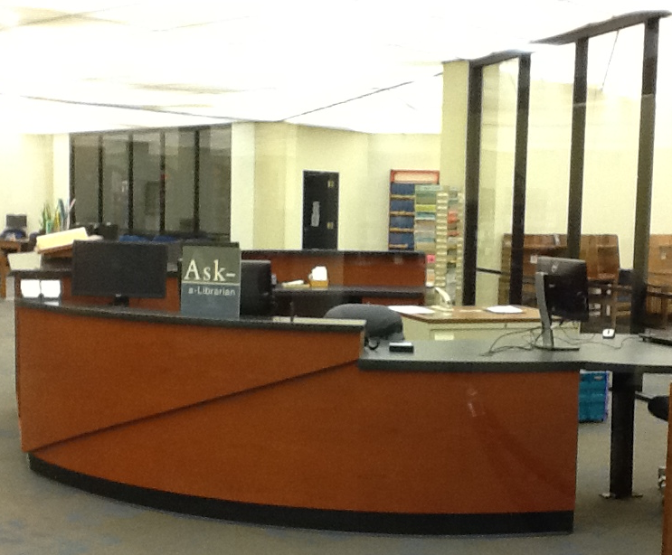 Reference Desk in Library INformation Commons (LINC)
