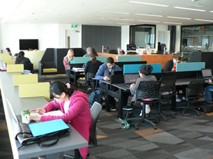 Photo of inside Manukau Campus Library