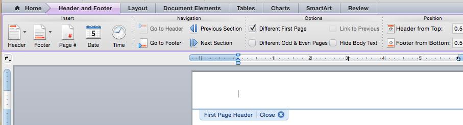 Mac header & footer screenshot