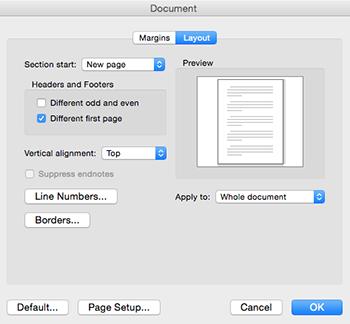 Mac Layout screenshot
