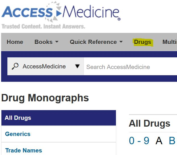 accessmedicine drugs