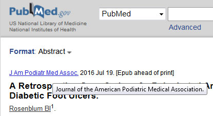 View Pubmed journal abbreviations