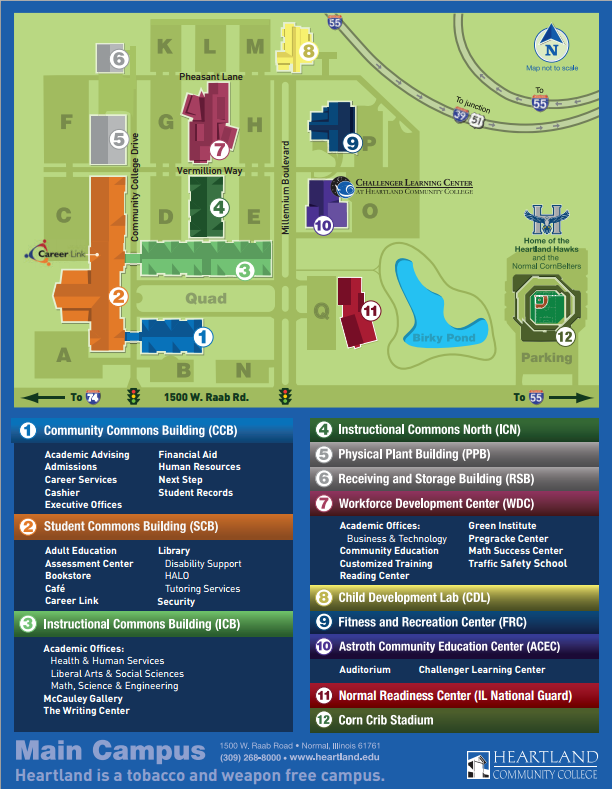 Heartland Community College Map Heartland Community College Campus Map | Map Of Us Western States