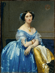 painting of the princesse de broglie by ingres