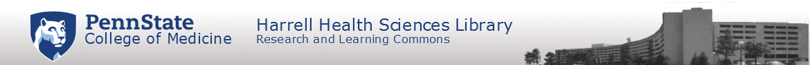Harrell Health Sciences Library: Research and Learning Commons Logo