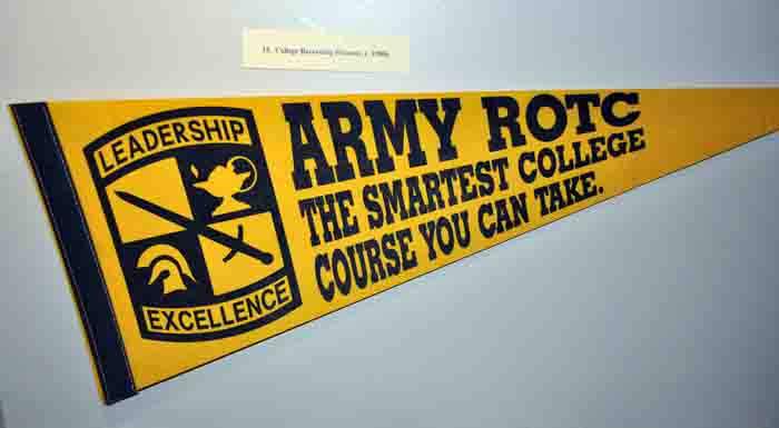 College Recruiting Pennant, c. 1980s