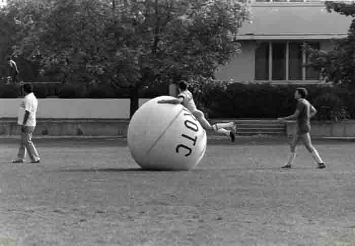 Playing with a ROTC Exercise Ball, 1984