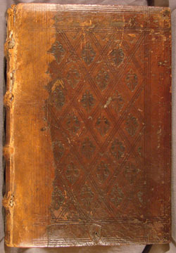 Tooled front cover of antoninus, Summa Theologica, Vol 4 (1490)