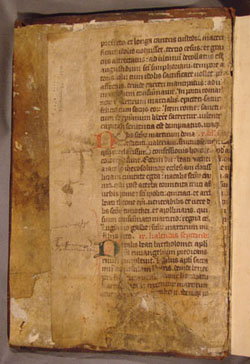 Back pastedown in Antoninus, Summa Theologica, Vol. 4 (1490)