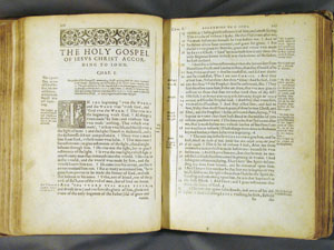 opening of Gospel of John, Douai NT (1582)
