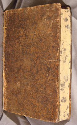 marbling on edge of textblock, John Middleton, on Aristotle's PHYSICS (1670)