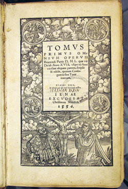 title page, Luther, Opera omnia, vol. 1