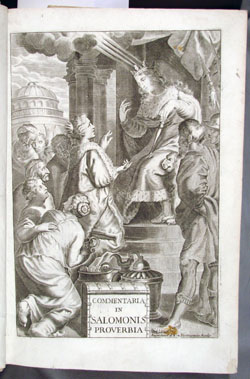 Frontispiece of Lapide, Commentary on Proverbs (1717)