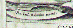 Rubens' name on title page of Lessius on justice (1621)