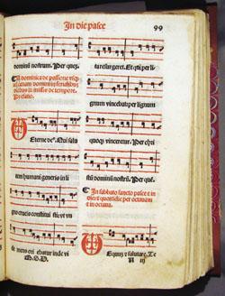 Gregorian chant for Easter, fol. 99