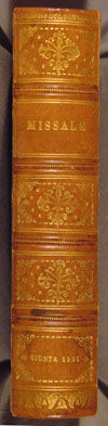 spine of Dominican Missal of 1521