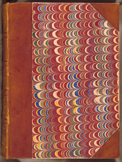 marbled front cover of Dominican Missal of 1521
