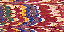 Detail of marbling from back endpaper, Dominican Missal of 1521
