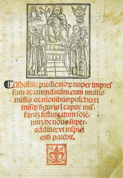 titlepage woodcut: St. Dominic, printer's device