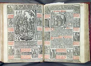 Palm Sunday opening, Dominican Missal (1521), fols. 63v-64