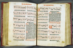 Gregorian chant in 1521 Dominican Missal