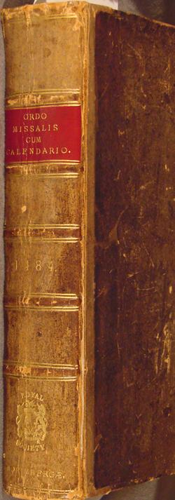 Spine, 1484 Roman Missal