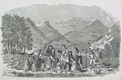 Baptism of Louise Sighouin of the Coeur d'Alene, frontispiece, De Smet, NEW INDIAN SKETCHES