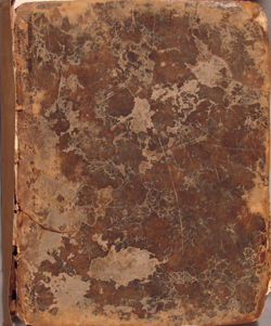 front cover, Fourmestraulx(?), LIBER SUMMUS PHISICORUM (1693)