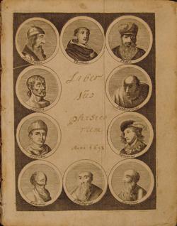 title page, Fourmelstraulx(?), LIBER SUMMUS PHISICORUM (1693)