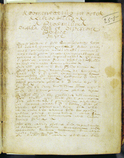 first page of text, Fourmelstraulx(?), LIBER SUMMUS PHISICORUM (1693)