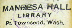 Port Townsend book stamp, in Drexel volume