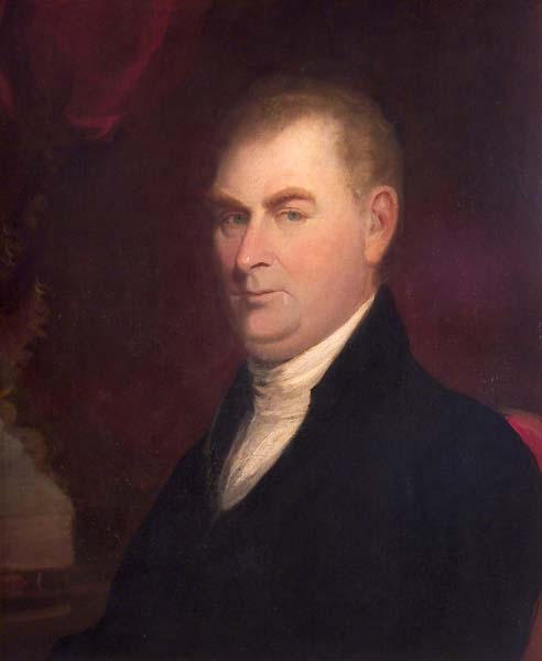 portrait painting of James Blythe