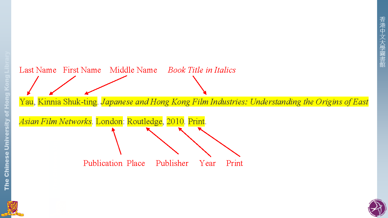 mla style - citation styles - libguides at the chinese university of