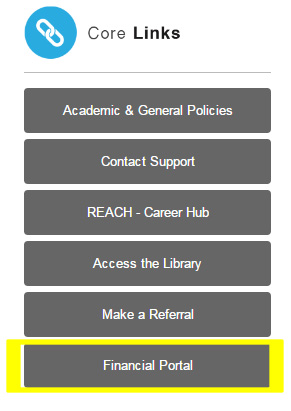 Image of Core Links menu