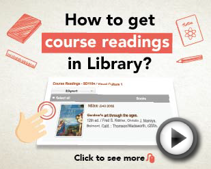 How to get course readings in Library [0:48]