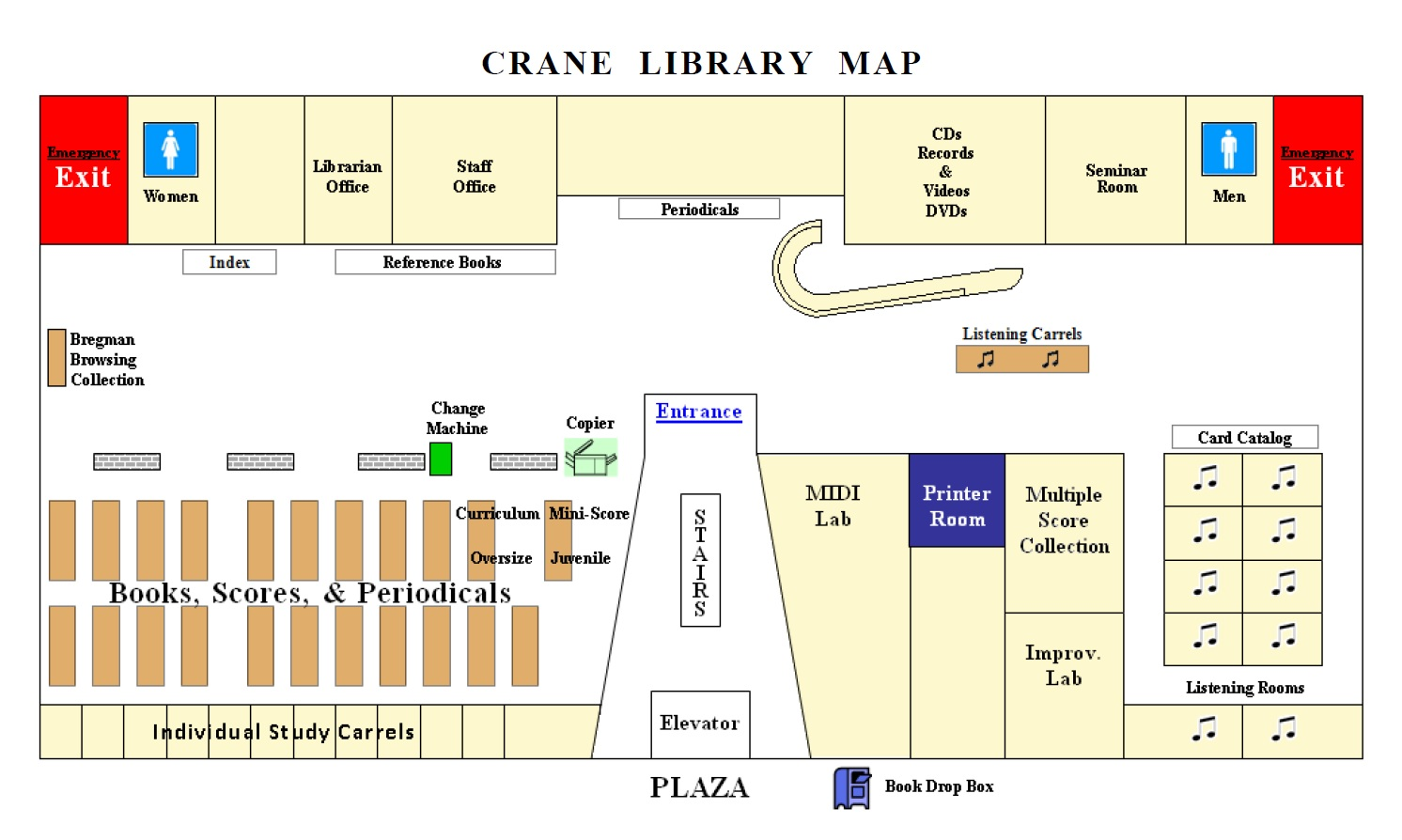 Crane Library Map