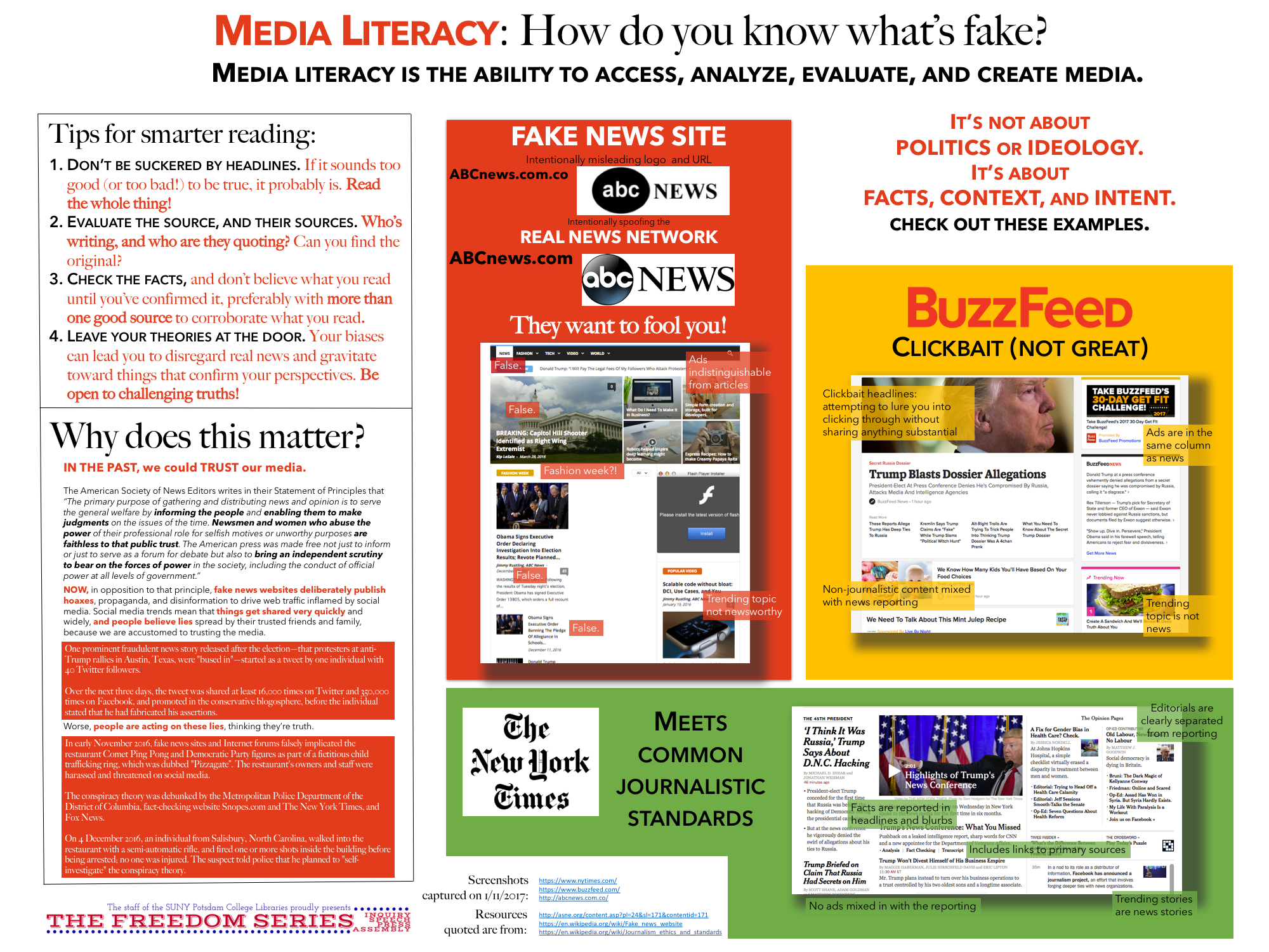 Media Literacy   Jan   The Freedom Series  College  News And Essays On Media Literacy And Fake News
