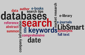 Word cloud of search-related terms
