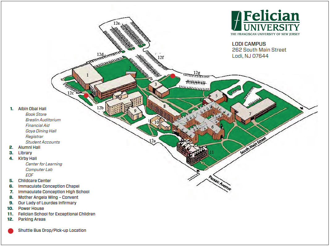 Franciscan University Campus Map.Visit Us Chat With Us Felician University Libraries At Felician