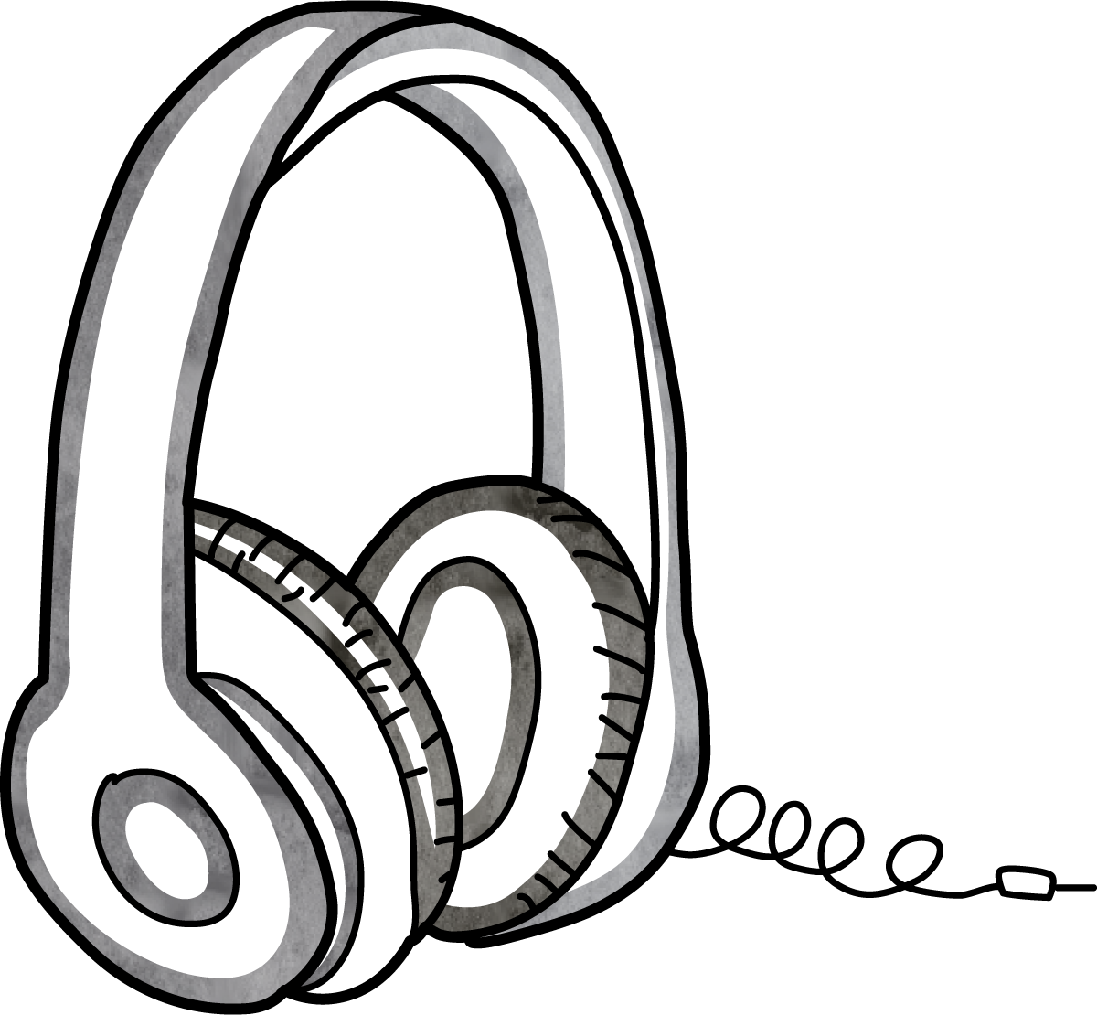 Line Art Headphones : Equipment multimedia academic resources research