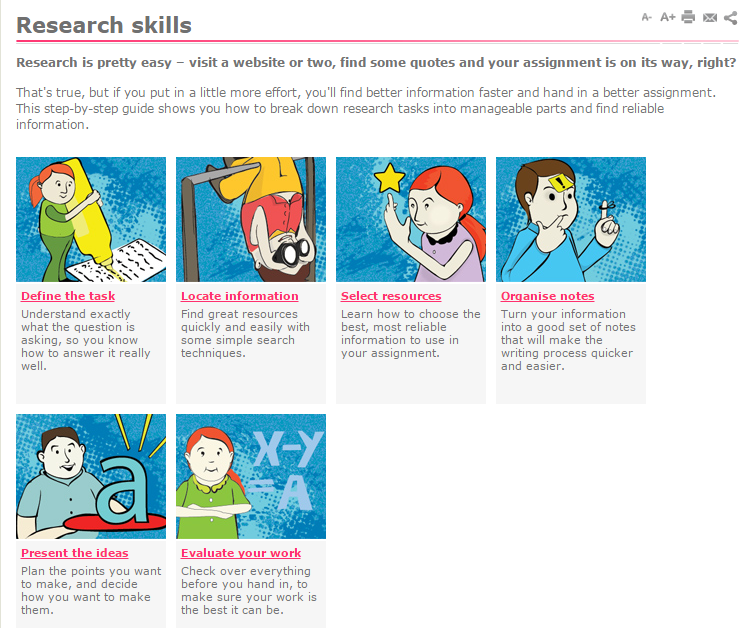 slv research skills screenshot