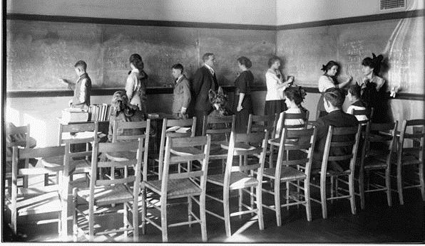 Ohio State Normal College practice teaching group 1916