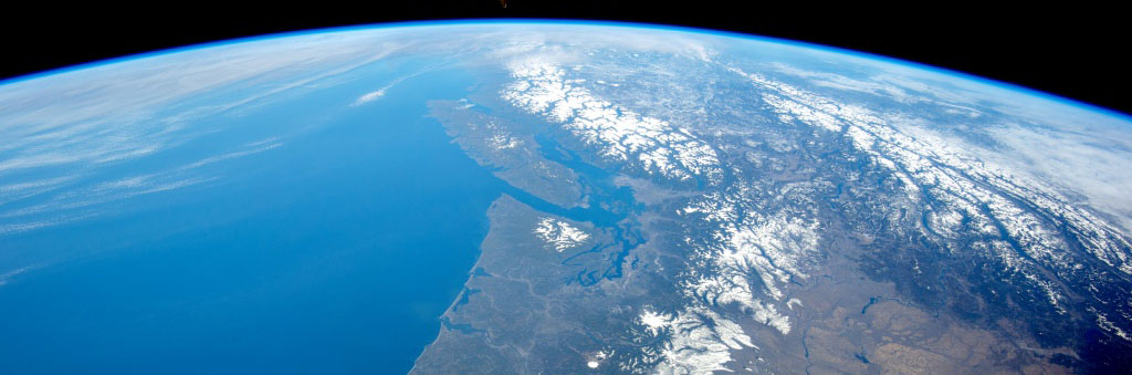 The Pacific Northwest from Space, courtesy of the Earth Science and Remote Sensing Unit, NASA Johnson Space Center