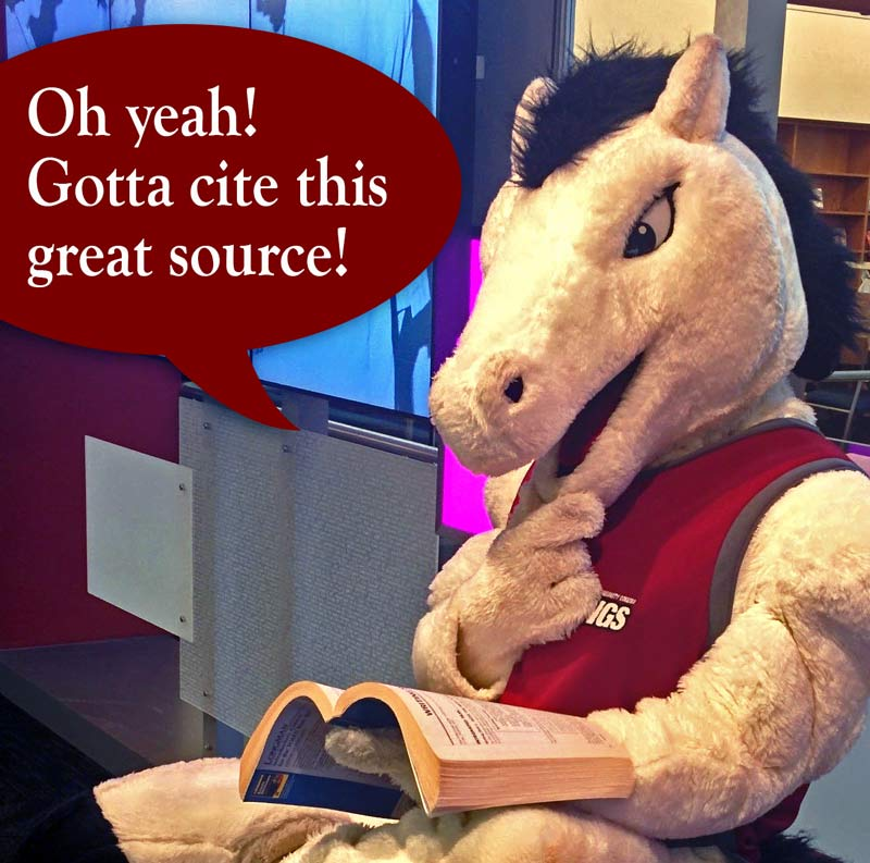 Mustang mascot says: Oh yeah, I must cite this great source!