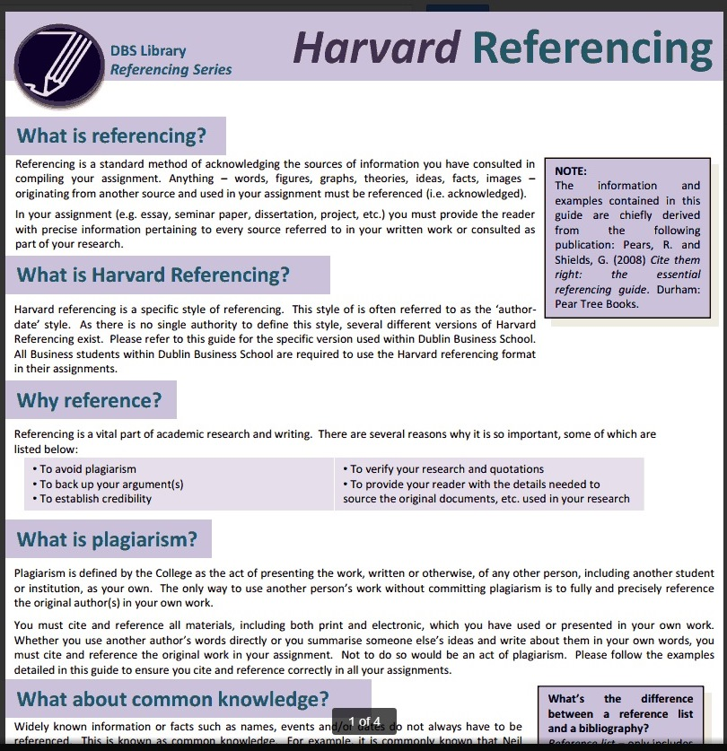 What precisely is normally typically the Harvard Referencing System?