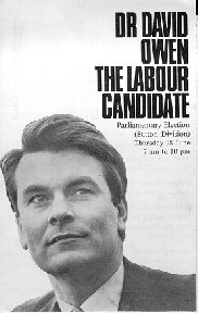 Image of Dr David Owen: The Labour Candidate flyer